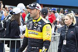 June 10, 2018 - Brooklyn, Michigan, U.S - NASCAR driver PAUL MENARD (21) walks in the pit area at Michigan International Speedway. (Credit Image: © Scott Mapes via ZUMA Wire)