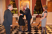 THE DUCHESS OF CORNWALL; NICK PETO; HENRIETTA CHEETHAM;, The Lady Joseph Trust, fundraising party.<br /> Camilla, Duchess of Cornwall  attends gala fundraising event as newly appointed President of the charity. The Lady Joseph Trust was formed in 2009 to raise funds to acquire horses for the UKÕs top Paralympic riders Cavalry and Guards Club, 127 Piccadilly, London,<br /> 26 October 2011. <br /> <br />  , -DO NOT ARCHIVE-© Copyright Photograph by Dafydd Jones. 248 Clapham Rd. London SW9 0PZ. Tel 0207 820 0771. www.dafjones.com.<br /> THE DUCHESS OF CORNWALL; NICK PETO; HENRIETTA CHEETHAM;, The Lady Joseph Trust, fundraising party.<br /> Camilla, Duchess of Cornwall  attends gala fundraising event as newly appointed President of the charity. The Lady Joseph Trust was formed in 2009 to raise funds to acquire horses for the UK's top Paralympic riders Cavalry and Guards Club, 127 Piccadilly, London,<br /> 26 October 2011. <br /> <br />  , -DO NOT ARCHIVE-© Copyright Photograph by Dafydd Jones. 248 Clapham Rd. London SW9 0PZ. Tel 0207 820 0771. www.dafjones.com.