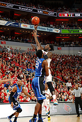 Louisville forward Montrezl Harrell. <br /> <br /> The University of Louisville hosted Duke University, Saturday, Jan. 17, 2015 at The Yum Center in Louisville. <br /> <br /> Duke won the game 63-52.