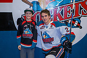 KELOWNA, CANADA - JANUARY 10:  Home Hardware Stick boy with Cal Foote #25 of the Kelowna Rockets at the Kelowna Rockets game on January 10, 2018 at Prospera Place in Kelowna, British Columbia, Canada.  (Photo By Cindy Rogers/Nyasa Photography,  *** Local Caption ***
