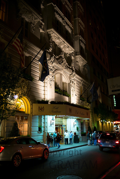 Famous luxury high class Hotel Monteleone on Royal Street, French Quarter of New Orleans, USA