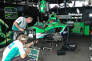DURBAN, South Africa, In the pits of Team Ireland (16th 1:20.354) during the Friday practice sessions held as part of the A1GP race weekend in Durban, South Africa on Friday 22 February 2008. Photo: SportsPics/SPORTZPICS