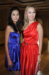 Left to right, ZHANAR KALIYEVA and ZHANSULUMY NBAYEVA at a dinner hosted by jewellers Damiani at The Connaught Hotel, London on 3rd February 2010.