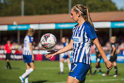 Aileen Whelan (Brighton) with the ball during the FA Women's Super League match between Brighton and Hove Albion Women and Chelsea at The People's Pension Stadium, Crawley, England on 15 September 2019.