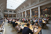 Universities in Vienna, Austria..Universität Wien..The new library. Large Reading Room.