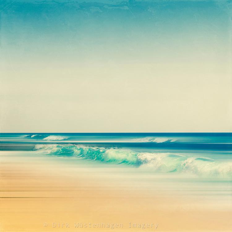 Emerald green wave crashing on a beach. Digitally manipulated photograph.<br /> <br /> Prints &amp; more: http://society6.com/DirkWuestenhagenImagery/emerald-surf_Print