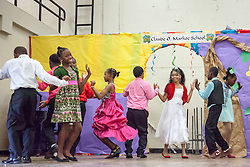 Students dance the Swing at Claude O. Markoe Elementary School Dancing Classrooms VI Culminating Event.  17 December 2015.  Christiansted, St. Croix.   © Aisha-Zakiya Boyd.