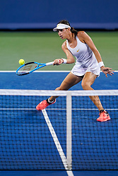 August 15, 2018 - Cincinnati, OH, U.S. - CINCINNATI, OH - AUGUST 15: Ajla Tomljanovic (AUS) hits a forehand shot during the Western & Southern Open at the Lindner Family Tennis Center in Mason, Ohio on August 15, 2018. (Photo by Adam Lacy/Icon Sportswire) (Credit Image: © Adam Lacy/Icon SMI via ZUMA Press)