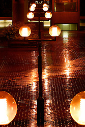 UK ENGLAND LONDON 31OCT03 - Barbican Estate by night and rainfall...jre/Photo by Jiri Rezac..© Jiri Rezac 2003..Contact: +44 (0) 7050 110 417.Mobile:  +44 (0) 7801 337 683.Office:  +44 (0) 20 8968 9635..Email:   jiri@jirirezac.com.Web:     www.jirirezac.com