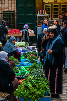 Street market on El Wad Road in the  Old City, Jerusalem, Israel.