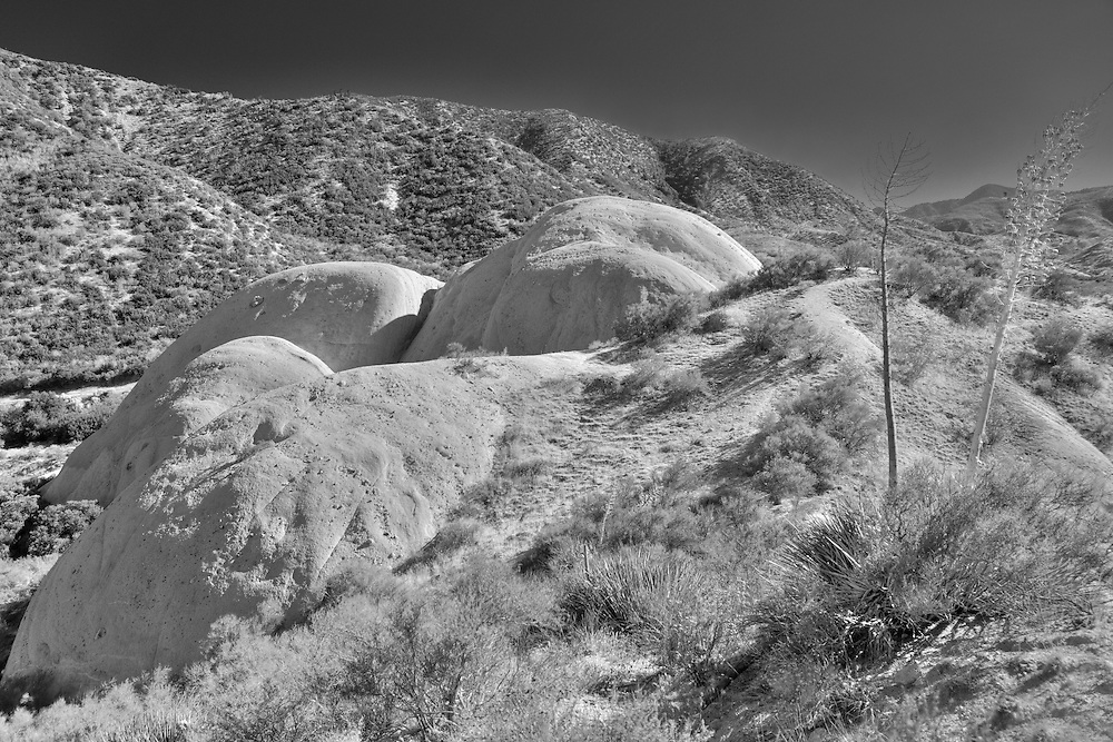 Mormon Rocks - Elevated South View - Infrared Black & White