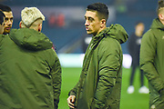 Pablo Hernandez of Leeds United (19) arrives at the ground during the EFL Sky Bet Championship match between Leeds United and West Bromwich Albion at Elland Road, Leeds, England on 1 March 2019.