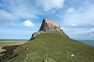 Lindisfarne Castle, Holy Island (Lindisfarne), Northumberland, UK, during a day of unseasonally fine weather in February 2014. © Rudolf Abraham