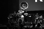 Damon Bryson a.k.a. Tuba Gooding Jr. performs during Summer Spirit Festival 2018 at Merriweather Post Pavilion in Columbia, MD on Sunday, August 5, 2018.