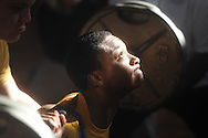 Oxford High weigtlifter Demarcus Brown competes in a high school weightlifting contest at Oxford Middle School in Oxford, Miss. on Saturday, January 29, 2011.