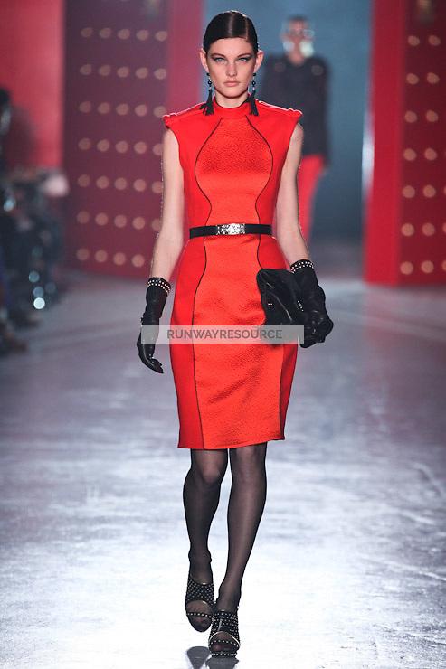 Patricia van der Vliet walks down runway for F2012 Jason Wu's collection in Mercedes Benz fashion week in New York on Feb 10, 2012 NYC