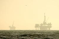 Offshore Oil Drilling Platform Rigs, Huntington Beach, California