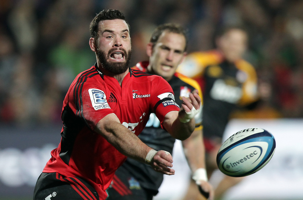 Crusaders' Ryan Crotty in action during the Chiefs in a Super Rugby semi final match, Waikato Stadium, Hamilton, New Zealand, Saturday, July 27, 2013.  Credit:SNPA / David Rowland