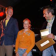 Huizer Sportgala 2005, uitreiking sportprijzen, aanstormend talent Erik Leeflang en Jesica