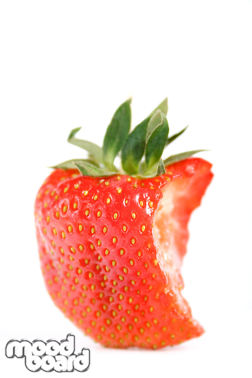Strawberry on white background - close up