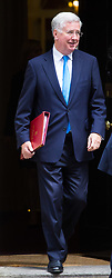 London, July 4th 2017. Defence Secretary Michael Fallon leaves the weekly cabinet meeting at 10 Downing Street in London.