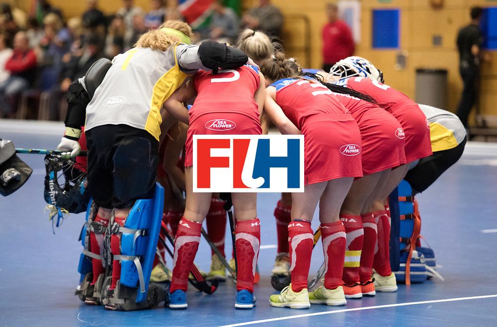 BERLIN - Indoor Hockey World Cup<br /> Czech Republic - Namibia<br /> foto: line up<br /> WORLDSPORTPICS COPYRIGHT FRANK UIJLENBROEK