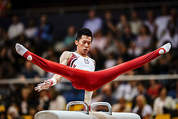 November 2, 2018 - Doha, Qatar - Chih Kai Lee of  Chinese Taipei[5]   during  Pommel Horse for Men at the Aspire Dome in Doha, Qatar, Artistic FIG Gymnastics World Championships on 2 of November 2018. (Credit Image: © Ulrik Pedersen/NurPhoto via ZUMA Press)