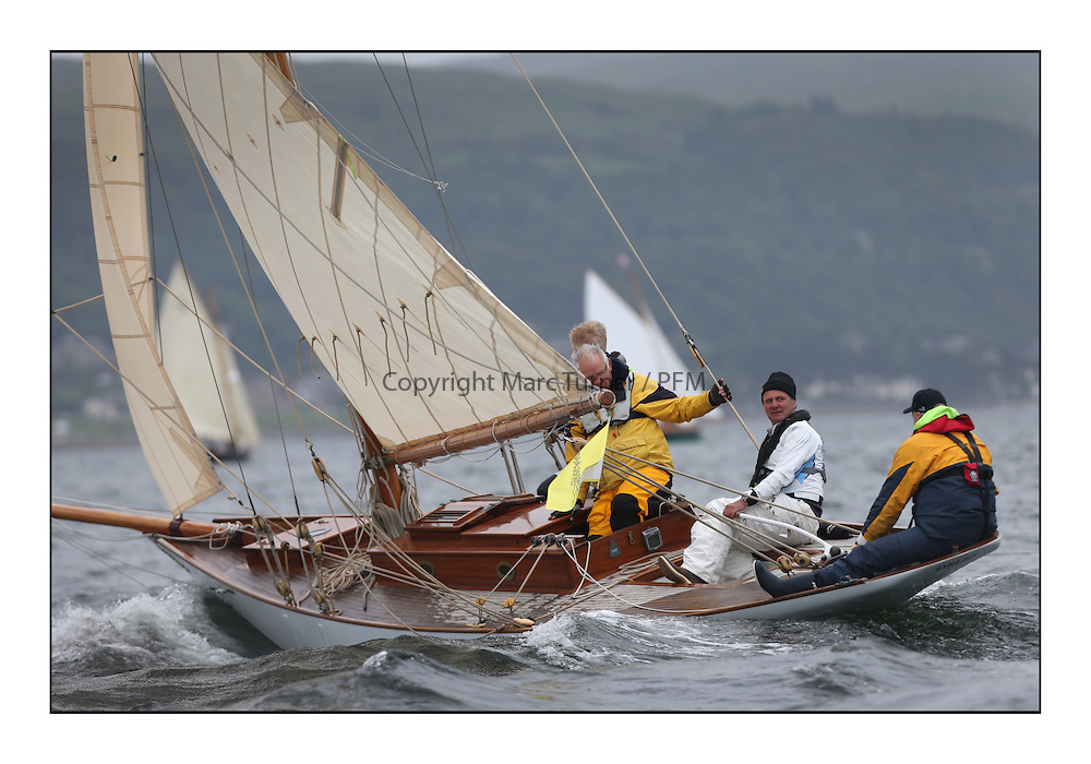 Day one of the Fife Regatta, Round Cumbraes Race.<br /> <br /> Oblio, Gordon Turner, GBR, Gaff Cutter, Wm Fife 3rd, 2007<br /> <br /> * The William Fife designed Yachts return to the birthplace of these historic yachts, the Scotland&rsquo;s pre-eminent yacht designer and builder for the 4th Fife Regatta on the Clyde 28th June&ndash;5th July 2013<br /> <br /> More information is available on the website: www.fiferegatta.com