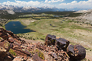 Visitors can get views of the eastern edge of Tuolumne Meadows from just above Tioga Pass, Yosemite National Park, CA.