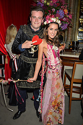 FREDDIE COLERIDGE and ROSANNA FALCONER at the Tatler Magazine's Kings & Queens party held at Savini at Criterion, Piccadilly, London on 1st June 2016.