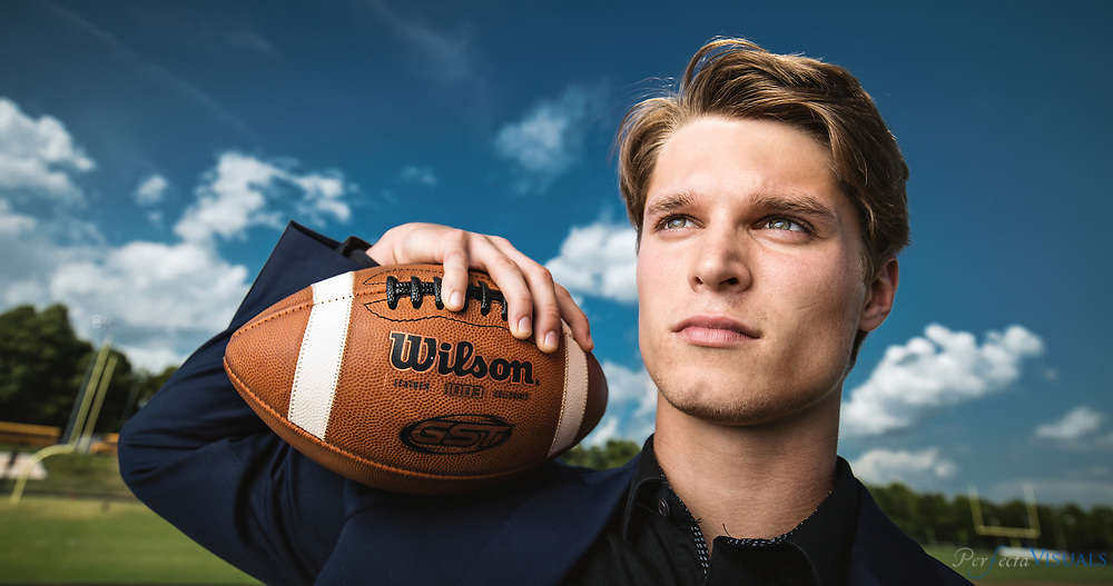 Carson Burgess, a S.E. Guilford senior, has been an entrepreneur for 7 years. This fall he will attend UNC-Chapel Hill  where he is a preferred walk-on for the UNC football team. At age 12 Burgess started selling athletic shoes on ebay, making up to $600.00 a month.<br /> <br /> Photographed, Tuesday, May 22, 2018, in Greensboro, N.C. JERRY WOLFORD and SCOTT MUTHERSBAUGH / Perfecta Visuals