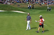 Bubba Watson (Team USA) on the 1st green during the Friday Foursomes at the Ryder Cup, Le Golf National, Ile-de-France, France. 28/09/2018.<br /> Picture Thos Caffrey / Golffile.ie<br /> <br /> All photo usage must carry mandatory copyright credit (© Golffile | Thos Caffrey)