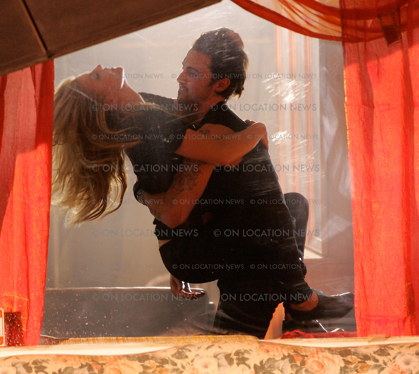 April 15th 2007 Los Angeles, California, ***EXCLUSIVE*** Fergie and Milo Ventimiglia get frisky while filming a scene for Fergie's music video for Big Girls Don't Cry. Photo by Eric Ford 818-613-3955 info@onlocationnews.com