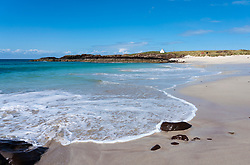Beach at Clachtoll the North Coast 500 scenic driving route in Assynt northern Scotland, UK