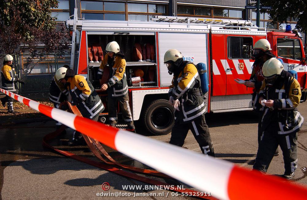 Gas lekkage bij BNI Huizen,
