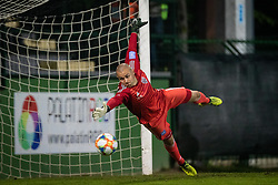 Dean Šafarič makes a save during football match between NŠ Mura and ND Gorica in 34nd Round of Prva liga Telekom Slovenije 2018/19, on May 18, 2019 in Fazanerija, Murska Sobota, Slovenia. Photo by Blaž Weindorfer / Sportida
