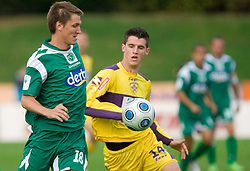 David Kasnik of Olimpija vs Vito Plut of Maribor at 13th Round of Prva Liga football match between NK Olimpija and Maribor, on October 17, 2009, in ZAK Stadium, Ljubljana. Maribor won 1:0. (Photo by Vid Ponikvar / Sportida)