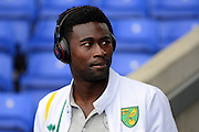Norwich City midfielder Alexander Tettey (27) wearing beats headphones during the EFL Sky Bet Championship match between Birmingham City and Norwich City at St Andrews, Birmingham, England on 27 August 2016. Photo by Alan Franklin.