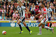 West Bromwich Albion captain Darren Fletcher during the Barclays Premier League match between Stoke City and West Bromwich Albion at the Britannia Stadium, Stoke-on-Trent, England on 29 August 2015. Photo by Aaron Lupton.