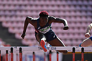 Jeanice Laviolette (FRA) competes in 110 Metres Hurdles Men during the IAAF World U20 Championships 2018 at Tampere in Finland, Day 2, on July 11, 2018 - Photo Julien Crosnier / KMSP / ProSportsImages / DPPI