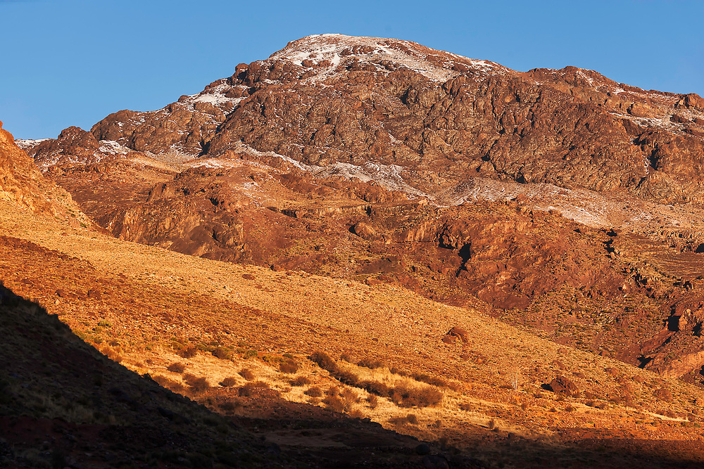 High Atlas Mountains early morning, Morocco.