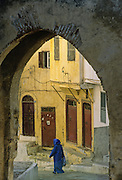 Tangier, the casbah's gate.