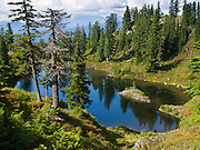 Hike to Cutthroat Lakes on the Walt Bailey trail, Mount Pilchuck Natural Resources Conservation Area (NRCA), Washington, Central Cascade Range, accessed from the Mountain Loop Highway. Snohomish County, USA