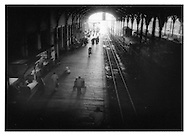 Drawn toward the light, Egmore Station, Madras (Chennai), India.