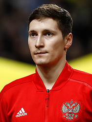 November 20, 2018 - Stockholm, Sweden - Daler Kuzyaev of Russia looks on during the UEFA Nations League B Group 2 match between Sweden and Russia on November 20, 2018 at Friends Arena in Stockholm, Sweden. (Credit Image: © Mike Kireev/NurPhoto via ZUMA Press)
