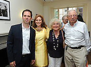 Hunter College President Jennifer J. Raab, second left, poses with New York Assemblyman Dan Quart, left, with Hunter alumna Judy Zabar and Stanley Zabar at the Hunter College Summer Garden Party, Tuesday, July, 8, 2014, at Roosevelt House in New York.  (Photo by Diane Bondareff/Invision for Hunter College/AP Images)