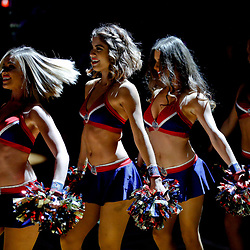 Dec 30, 2016; New Orleans, LA, USA; New Orleans Pelicans dance team performs during introductions before a game against the New York Knicks at the Smoothie King Center. Mandatory Credit: Derick E. Hingle-USA TODAY Sports