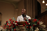 Guest reader Giles Terera during the Nordoff Robbins Carol Service 2019, St Luke's Church, Chelsea, London, UK, Tuesday 10 December 2019<br /> Photo JM Enternational