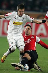 17.12.2011, BorussiaPark, Mönchengladbach, GER, 1.FBL, Borussia Mönchengladbach vs Mainz 05, im BildZweikampf zwischen Patrick Herrmann (Mönchengladbach #7) und Malik Fathi (Mainz #18) // during the 1.FBL, Borussia Mönchengladbach vs Mainz 05 on 2011/12/17, BorussiaPark, Mönchengladbach, Germany. EXPA Pictures © 2011, PhotoCredit: EXPA/ nph/ Mueller..***** ATTENTION - OUT OF GER, CRO *****