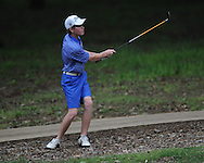 Oxford High's Ward Toler hits a shot on the 17th hole during the closing round of the MHSAA Class 5A state championship golf tournament at the Ole Miss Golf Course in Oxford, Miss. on Thursday, May 2, 2013. Oxford High won to win the state championship.
